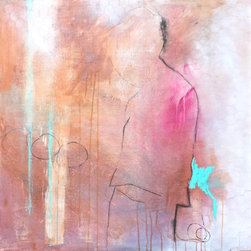 original art - String Theory 4 - This original, one-of-a-kind abstracted figurative painting is ready to hang – no framing required. Sheryl's beautiful artwork can be found in galleries around the country.