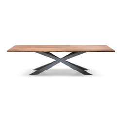 """Spyder Wood Table by Cattelan Italia - The Spyder Wood dining table by Cattelan Italia is a new and unique design that utilizes line and angles to create a contemporary dining table with incredible """"wow"""" factor."""