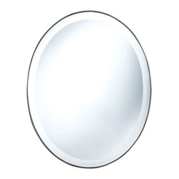 Cooper Classics - Cooper Classics Seymour Oval Mirror, Mocha - Add contemporary charm to any decor with the Seymour oval mirror. This lovely mirror has a beautiful mocha finish and beveled glass to compliment any decor.