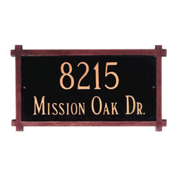 Mission Address Plaque - Perfect for Craftsman style homes of the 1920's era, this Mission Address Plaque is a great addition to your home or lawn.