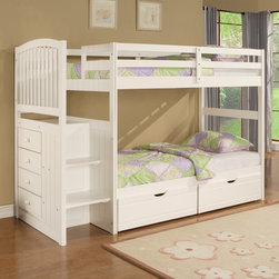 Twin Bunk Bed with Underbed Dual Drawer Unit - The Angelica Bunk Bed with Underbed Storage is the perfect choice for your childs bedroom.
