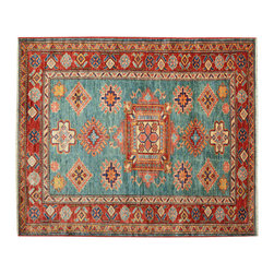 1800 Get A Rug - Tribal and Geometric Super Kazak 100% Wool Hand Knotted Oriental Rug Sh15221 - Our Tribal & Geometric Collection consists of classic rugs woven with geometric patterns based on traditional tribal motifs. You will find Kazak rugs and flat-woven Kilims with centuries-old classic Turkish, Persian, Caucasian and Armenian patterns. The collection also includes the antique, finely-woven Serapi Heriz, the Mamluk Afghan, and the traditional village Persian rug.
