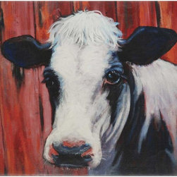 Paragon Decor - W.R.'s Favorite Artwork - Paragon's patriarch Wendell Glassco loves cattle.  The canvas showcases his favorite farm animal.  Features gallery style wrap.