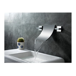 Sumerain S1248CW Waterfall Wall Mount Bathroom Sink Faucet - Sumerain S1248CW Waterfall Wall Mount Bathroom Sink Faucet