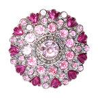 Charleston Knob Company - SET OF 2 Fancy Knobs - Jewel Cloisonne Pink - Puttin' on the Glitz is fun