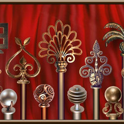 Priscilla's Unique Drapery Hardware - Priscilla's drapery hardware is in some of the finest home in the country.  We cater to designers and workrooms that need to satisfy a more discriminating clientele.  Made to order hand forged iron drapery finials,  heavy duty rods,  or extra long rods in square or round.  All of our hardware is made to your specifications.