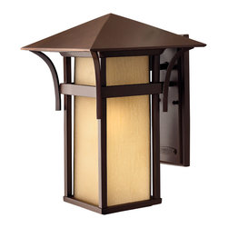 Hinkley Lighting - Harbor Large Wall Outdoor - Harbor has an updated nautical feel, with a style inspired by the clean, strong lines of a welcoming lighthouse. The cast aluminum and brass construction is accented by bold stripes against the seedy glass.
