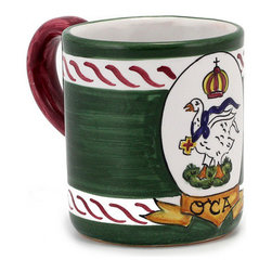 Artistica - Hand Made in Italy - PALIO DI SIENA: Oca mug - PALIO DI SIENA Collection: The Palio di Siena is a tournament as a replica of a medieval horse race which is ran twice year, during the summer season, in the city of Siena, located in the beautiful Tuscany region.
