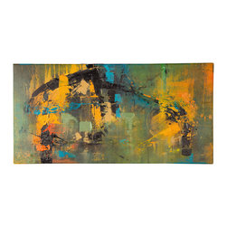 'Endangered' Original Painting - Original acrylic abstract painting created on regular style canvas.