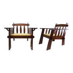 Arts & Crafts Style Teak Chairs - A Pair - $750 on Chairish.com -