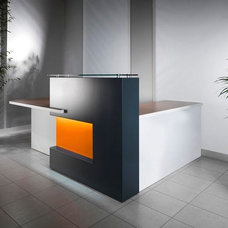 Furniture: Small Reception Desk Design For Contemporary Office, Home office furn