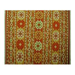 1800GetARug.com - Hand Woven 8'X10' 100% Wool Flat Weave Geometric Anatolian Kilim Area Rug Sh6521 - Hand Woven 8'X10' 100% Wool Flat Weave Geometric Anatolian Kilim Area Rug Sh6521