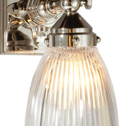 Garey Industrial Pivoting Wall Light - Finding unusual sconces for bathrooms that also have the proper amount of wattage is no easy feat. Here's a great sconce that meets both requirements while adding a bit of an industrial edge.