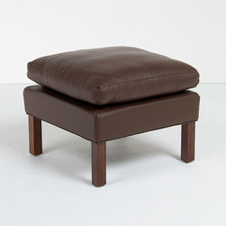 Modern Classics - Mogensen: Model 2204 Wing Ottoman Reproduction - Features: