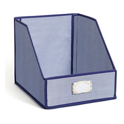 Great Useful Stuff - Sweater Bins for Organized Closet Storage, Blue Pin Stripe: 100% Cotton - Does your closet feel a little stuffy? We all know how tough it is to keep a closet looking neat and organized. Whether you have a closet nightmare or you just want a little more order, our stylish Sweater Storage Bins are the perfect choice for you!