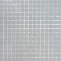 "Urban Glass Tile In Sea Froth 12 87 X 12 87 Sample - Glass Mosaic is a handmade product and therefore can vary in color.  Product weight: 1.5 lbs. Product height: 12.87"". Product width: 12.87"". Product depth: 0.157"". Square feet per carton: 12.65. Collection name: Urban Collection. Material type: Glass. Recommended grout width: 0.125"". Surface finish: Glossy. Pieces per carton: 10. Shipping weight per carton: 15 lbs. Tile Use: Walls/Backsplashes. Color: Sea Froth. Shade Variation: V1, Uniform"