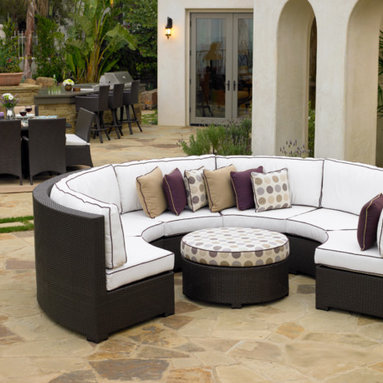 Northcape Curved Sectional - Curved outdoor wicker sectional by Northcape International.