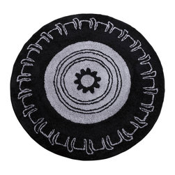 "Teyo's Tires - 5x5 Round Rug - Be the race track STAR with this NEW and amazing rug from the Teyo's Tires collection.  This rug adds the final touches to the room in all ways.  Identical to it's signature ""tire"" throughout-- this amazing rug is one of a kind."