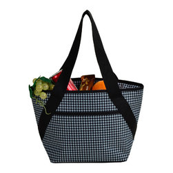 Picnic at Ascot - Hounds tooth Pattern Lunch Cooler - Features: