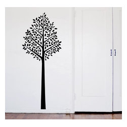 Design Your Wall - Dainty Tree - Wall Decal - This tree wall decal makes a great addition to any wall space. Tree stands just under 6 feet tall.