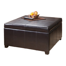 Shop Leather Storage Ottoman Coffee Table Products On Houzz