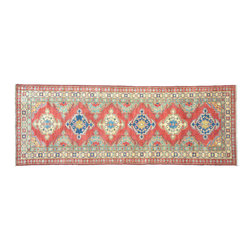 1800-Get-A-Rug - Super Kazak Oriental Hand Knotted Rug Runner Tribal Design Sh11075 - About Tribal & Geometric