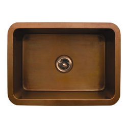 Whitehaus - Copperhaus 25 in. Rectangular Kitchen Sink (S - Color: Smooth Copper14 gauge sink. Hand made. 3.5 in. center drain. Copper is IAPMO tested and 97.5 % pure certification. Inner: 22 in. L x 16 in. W x 10 in. H. Overall: 25 in. L x 19 in. W x 10 in. H (32 lbs.). Warranty. Copper Care97.5% is pretty much the purest copper you can get without it being too soft for practical applications.