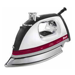 Euro-Pro - Shark Professional Iron - Most powerful steam with x-tended steam burst. Electronic temperature controls. Extra large water reservoir and won't drip. Rubberized comfort grip handle. Stainless soleplate. 1500 watt of ironing power. Made from steel and rubberKeep your clothes wrinkle-free with the Shark Professional Electronic Iron. Intelligent electronics let you select a temperature and show you exactly when the iron has reached that temperature. With its rubberized comfort grip handle, the Electronic Iron makes it easy to keep your clothes looking great.