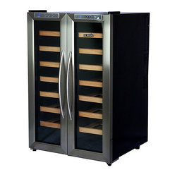NewAir - NewAir Dual Zone Wine Cooler 32 Bottle AW-321ED - Red, white and wonderful! Thanks to dual zone controls, this flexible, compact wine storage solution keeps 32 of your best bottles at their ideal serving temperature.
