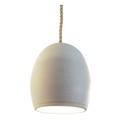 Hammers & Heels - Clay Natural Ceramic Ship Rope Pendant Light - THE NATURAL CLAY PENDANT LIGHT BRINGS TEXTURE TO ANY ROOM.