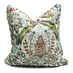 Blackband Design - Colorful Floral Print Pillow - Custom pillow by Blackband Design.