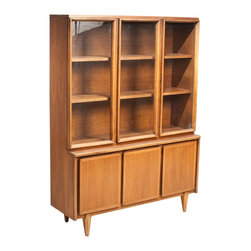 American of Martinsville - Consigned Mid Century Modern American of Martinsville Walnut Hutch - • Mid Century | American Modern