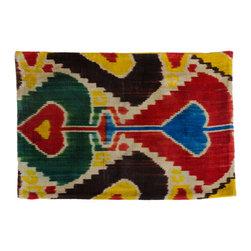Metrohouse Designs - Bolo Silk Velvet Ikat Pillow - Bolo Silk Velvet Ikat Pillow