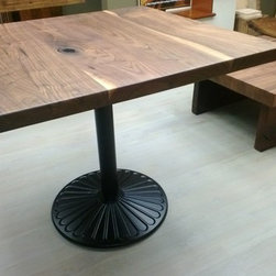 """Walnut Dining table - Top is 36"""" x 36"""" by 1 1/2"""" thick and 31"""" height."""