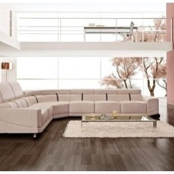 TOSH Furniture - Monique Bonded Leather Sectional Sofa Furniture - TOS-FF-1356 - Bonded leather in combination with the best leather match