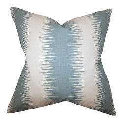 The Pillow Collection - Garbo Geometric Pillow Blue - Cool and interesting, this accent pillow from our new collection is a definite must-have. Featuring a unique geometric pattern, this toss pillow comes in blue and white hues. Use this square pillow anywhere inside your home where it needs styling and comfort. Constructed using 100% high-quality polyester material. Hidden zipper closure for easy cover removal.  Knife edge finish on all four sides.  Reversible pillow with the same fabric on the back side.  Spot cleaning suggested.