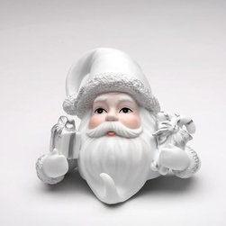 ATD - 4.38 Inch Santa Claus with Presents Christmas Stocking Hanger, White - This gorgeous 4.38 Inch Santa Claus with Presents Christmas Stocking Hanger, White has the finest details and highest quality you will find anywhere! 4.38 Inch Santa Claus with Presents Christmas Stocking Hanger, White is truly remarkable.