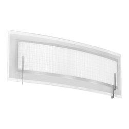 Dainolite - 1 Light Vanity Fixture, Satin Chrome Finish, Frosted Glass & Linen Glass - -Main Body Material: Steel/Glass