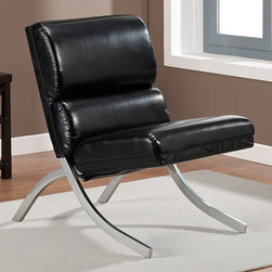 None - Rialto Black Bonded Leather Chair - Slip into comfort with this Rialto bonded leather chair. This black chair will complement your interior decor with a relaxing spring seat and smooth upholstery.