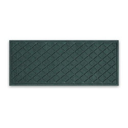 "Balsam Hill - Balsam Hill StormGuard Doormat - Evergreen Diamond Faceted - 22"" x 60"" - The Balsam Hill Diamond Faceted pattern StormGuard� floor mat keeps your entryways spotless and clean, even in the harshest of weather. Made out of premium synthetic fiber, this tough but elegant floor mat traps moisture, dirt, and dust while resisting everyday wear and tear, mold, and mildew. Our heavy-duty floor mat is able to retain its attractive appearance for many years and it also boasts an absorbency rate of over one gallon per square yard. Fits standard doorways, comes in the color evergreen. Free shipping when you buy today!"