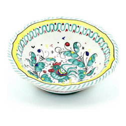 Artistica - Hand Made in Italy - Orvieto: Salad/Cereal Bowl ''Orvieto:'' - Orvieto Collection: This is a very old and traditional pattern that originated during the Renaissance in the hill-top town of Orvieto - Italy.