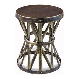 Interlude Home - Zemico Side Table - Looking for a small table with some character? This is a handsome table that could slot into any number of design schemes, whether you go industrial or rustic, or maybe you just want a touch of the Hellenic. This table may be little, but it packs a punch.