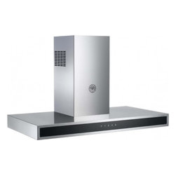 """Bertazzoni - Design KG36CONX 36"""" Wall Mount Range Hood with 600 CFM  Halogen Lights  Touch Co - The Bertazzoni Design Series hood offers a sleek conteporary style with steel-encased glass touch controls It is a perfect match for the Bertazzoni Design Series wall ovens and segmented cooktops Available with an efficient yet 600 CFM motor and stai..."""