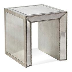 Bassett Mirror Company - Bassett Mirror Murano Mirrored Rectangle End - Mirrored Rectangle End belongs to Murano Collection by Bassett Mirror Company Mirrored Rectangle End End Table (1)