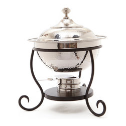 Old Dutch International - Round Polished Nickel over S/S Chafing Dish, 3 Qt. - When it comes to entertaining — timing is key. Use this exquisite polished nickel chafing dish to keep your food at just the right temperature. Made from stainless steel, it comes with a solid iron stand and an adjustable fuel holder. Entrees and appetizers will be ready even if the guests are late.