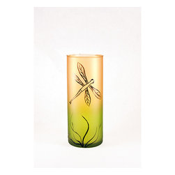 None - Dragon Fly Series Mouth-Blown Glass Vase - Solid glass dragonfly vase