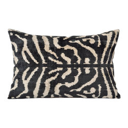 Metrohouse Designs - Zebra silk velvet accent pillow - Zebra Silk Velvet Accent Pillow
