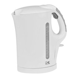 Kalorik - Kalorik 1.75 QT White Water Kettle - The Kalorik Cordless Electric Kettle boils water twice as fast as microwave oven. In a matter of minutes, hot water will be ready to use for anything from tea, hot cocoa, or instant coffee to instant soup or noodles. The kettle provides a comfortable handle with a rubberized pad to ensure a secure grip, a locking lid with an opening trigger button, a drip-free pouring spout, and a cordless design for graceful serving. For safety, the unit's controller provides boil-dry protection and automatic cut-off if it accidentally gets switched on without water. This Kalorik kettle is a true necessity for today's kitchen.