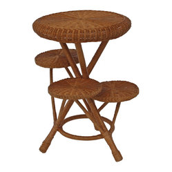 4-Tier Wicker Plant Stand