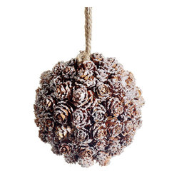 Silk Plants Direct - Silk Plants Direct Glittered Pine Cone Ball Ornament (Pack of 12) - Pack of 12. Silk Plants Direct specializes in manufacturing, design and supply of the most life-like, premium quality artificial plants, trees, flowers, arrangements, topiaries and containers for home, office and commercial use. Our Glittered Pine Cone Ball Ornament includes the following: